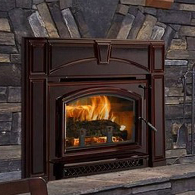 fireplace modern oakdale wood certified cast napoleon inserts main insert product fireplaces burning epa image iron