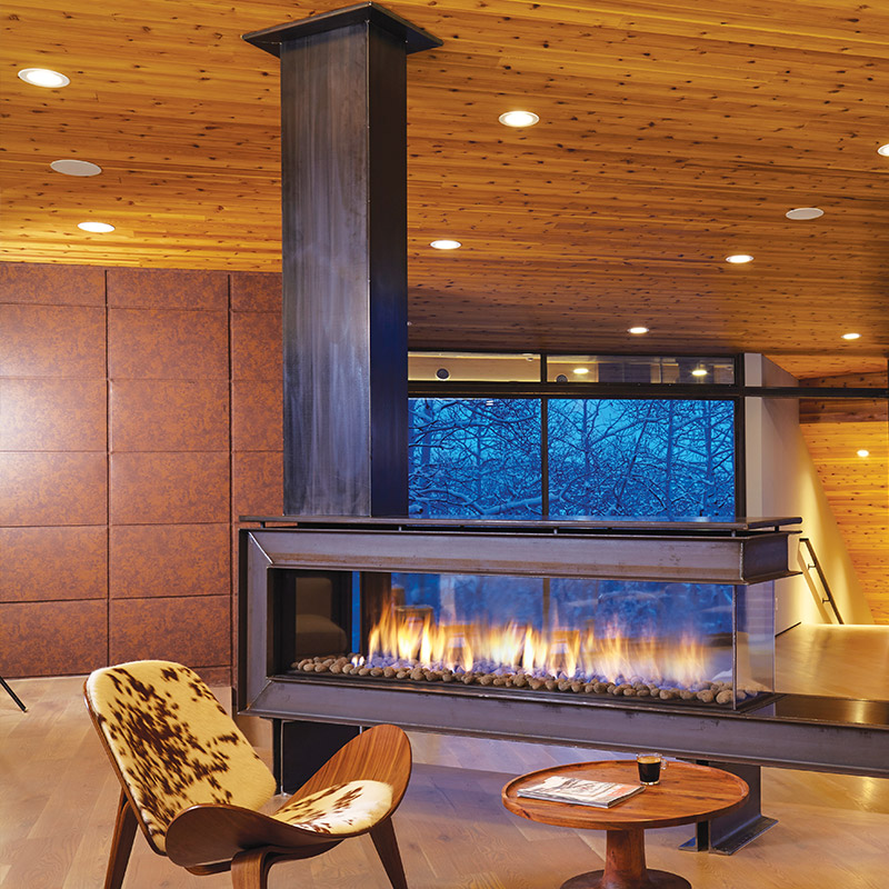 See Through Fireplaces Ortal Mountain West Sales